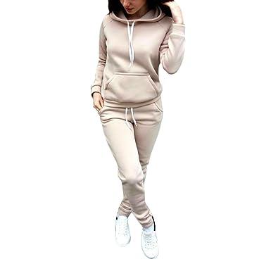 Set Sport Hoodie Pullover Misscat Women's Athletic Sweat Tracksuit pant Suit ED92WHI