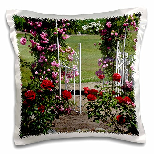 Garden Romantic Shirt (PS Flowers - Enter the Rose Garden - Romantic Inspired Flowers - 16x16 inch Pillow Case (pc_57835_1))
