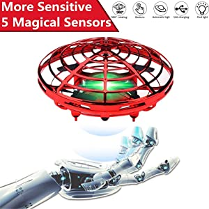 Hand Operated Drones Toys for Kids or Adults, UFO Easy Indoor Small UFO Flying Ball Drone Toys for Age 3, 4, 5, 6, 7, 8, 9 Boys and Girls, Flying Ball Drone for Kids Toys Gift