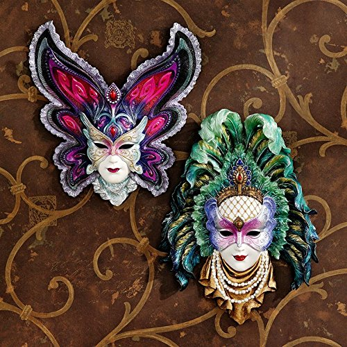 Design Toscano Inc Maidens of Mardi Gras Wall Mask Sculptures: Butterfly Maid...