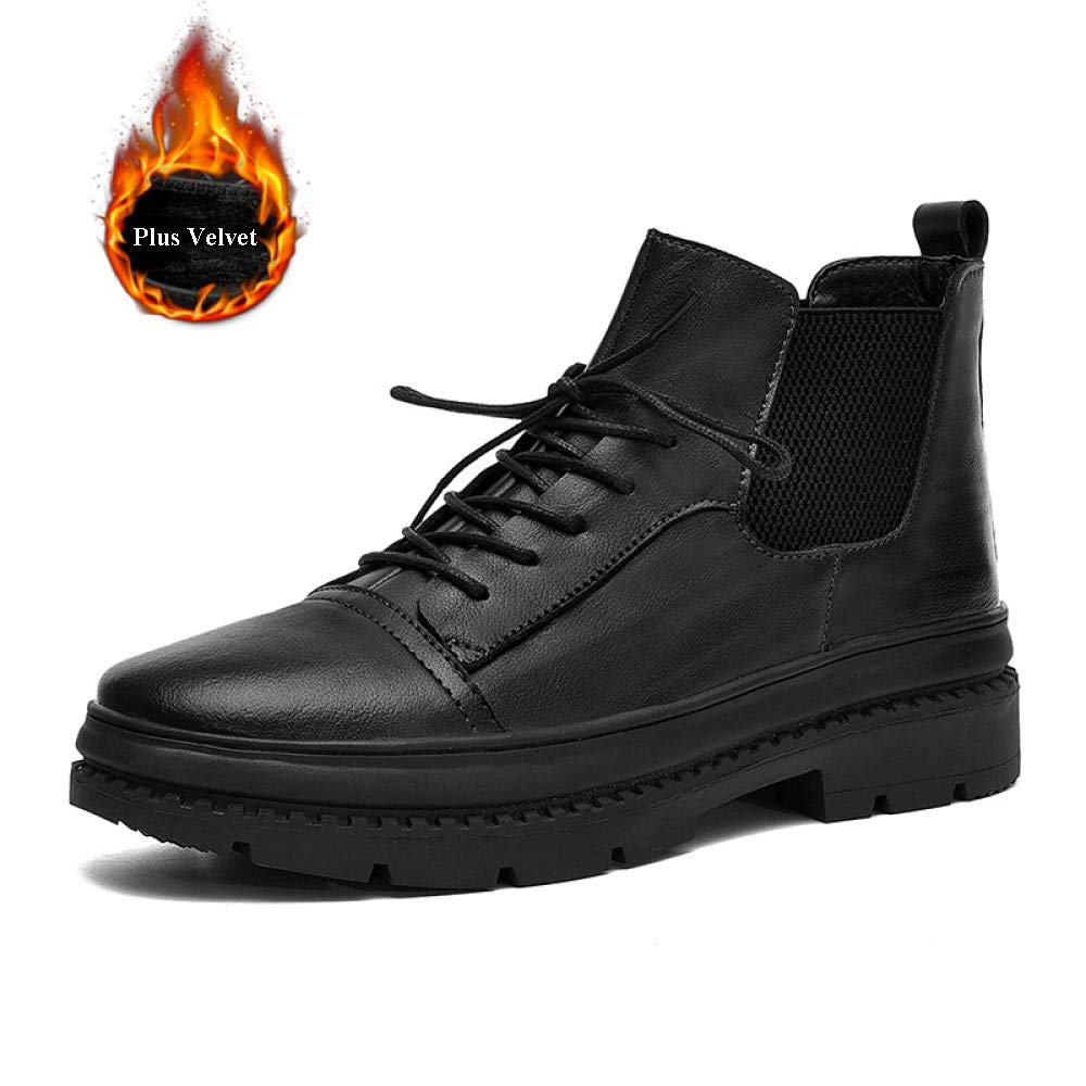 Herren Winter Outdoor Casual Lederschuhe Britischer Stil Lace Up Anti-Slip Anti-Slip Anti-Slip Luxuriöse Lederschuhe - Für Die Arbeit Und Das Gehen,schwarz-UK8(43EUR) 0dff06