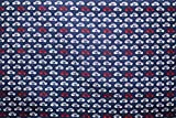 Car Print Royal Blue Colour 100% Cotton Fabric **FREE UK POST** Kids Children Nursery Early Learning Fun Craft Small Cars Boys Fabric Zoom Bunting Bed Sheet Cover Quilting Material Patchwork (1 Meter (100cm x 114cm))
