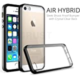 CRUST Air Hybrid Clear Back Cover for Apple iPhone SE/ 5S/ 5 (Black)