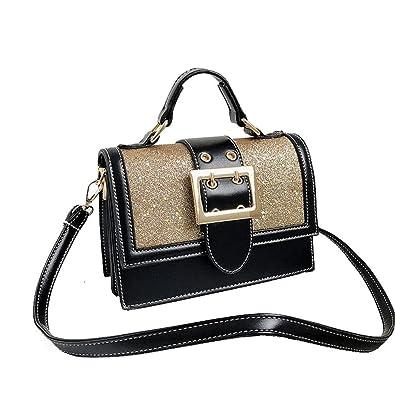 Amazon.com  Womens Leather Top Handle Tote Satchel Designer Handbags  Crossbody Bag Chain Shoulder Clutch (Gold)  Shoes fc8095da92