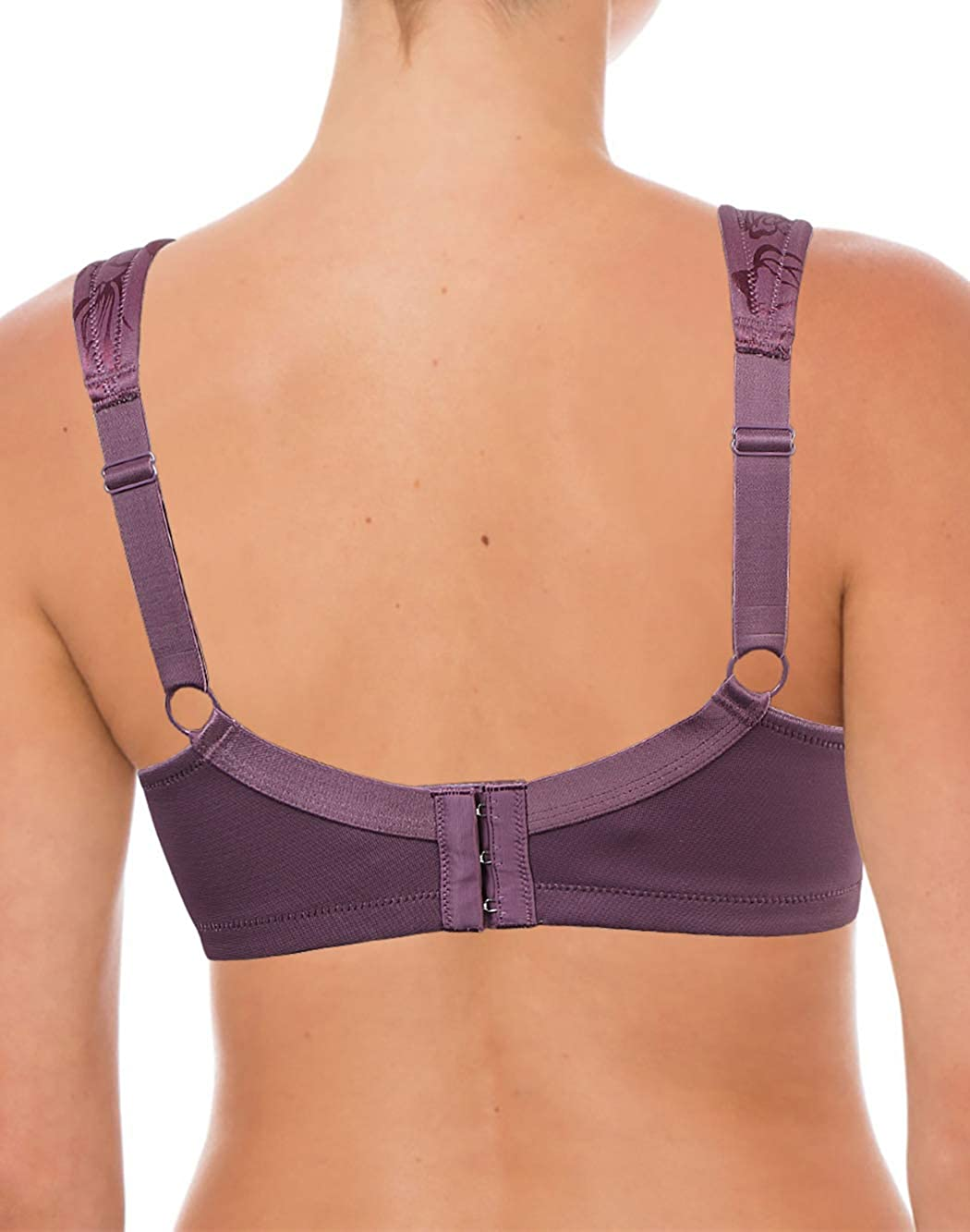 36DDD Purple Wirefree Unpadded Supportive Full Figure No Side Effects Unlined Soft Cup Plus Size Minimizer Wireless Everyday Bra