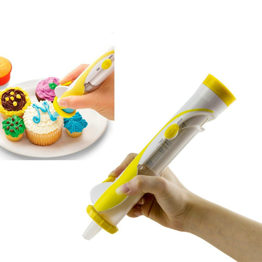 Lysport Electronic Frosting Deco Pen Battery Powered Cake Decorating Pen for Cupcake Cookie Dessert Pastry DIY Decoration Writing Tool