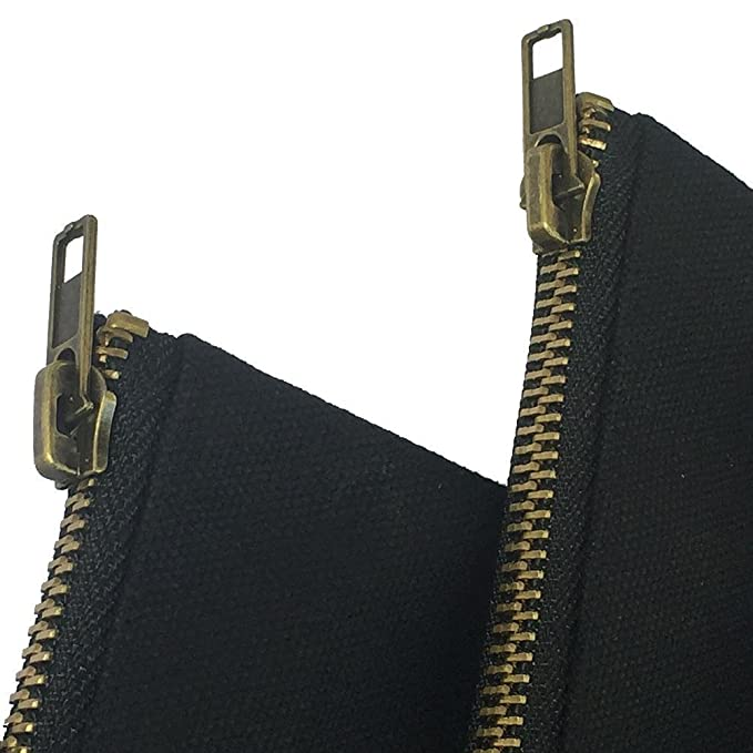 qees impermeable bolsa de herramientas lienzo multifunci/ón resistente bolsa de almacenamiento con cremallera de lat/ón 4/pcs 12,5/x 7/pulgadas gjb03