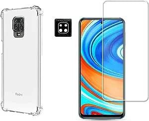 Kit Capa + Película Vidro + Película Câmera Gel Xiaomi Redmi Note 9S (NÃO SERVE NO REDMI NOTE 9 NORMAL)
