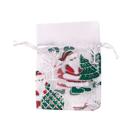 10 x Organza Gift Bags Jewellery Pouches XMAS Wedding Party Favour 15 x 10 cm UK