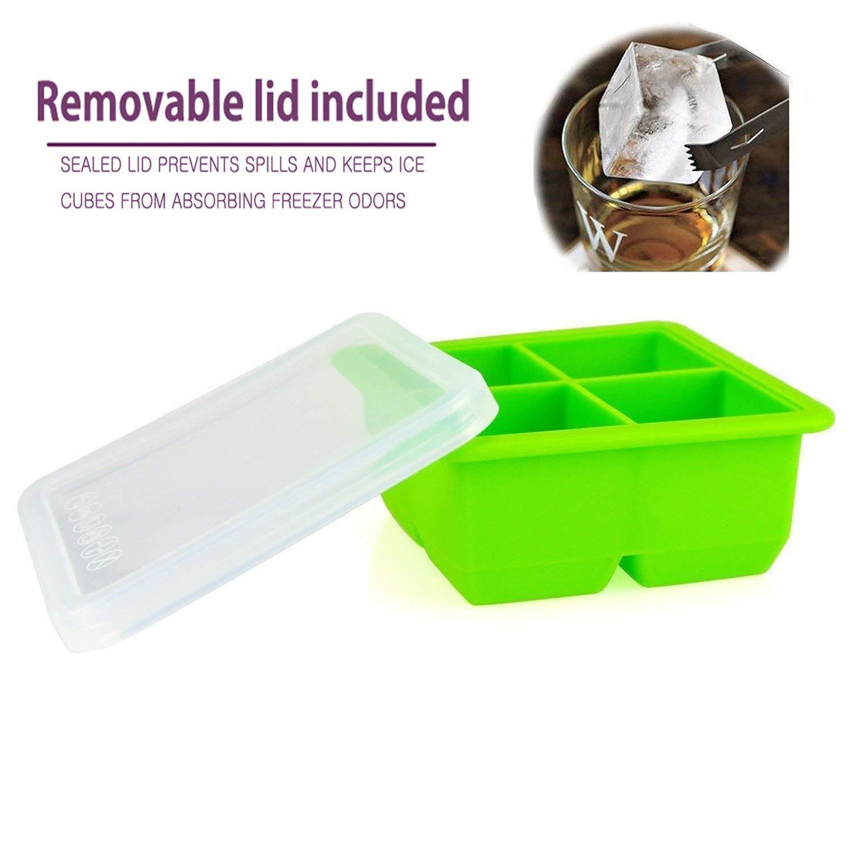 MAIGG Cubito de hielo de silicona cubierta impermeable - Moldes de ...
