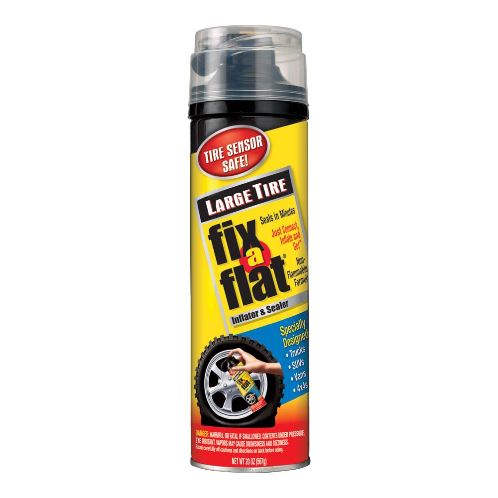 Fix-A-Flat S430-6PK Aerosol Tire Inflator with Hose for Large Tires - 20 oz, 6 Pack by Fix-A-Flat