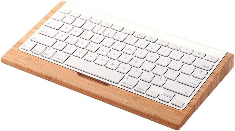 Samdi madera Craft Bluetooth Teclado inalámbrico Soporte Dock ...
