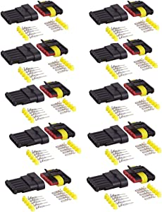ZYTC 10 Kits 5 Pin Way Waterproof Electrical Connector Plug 1.5mm Series Terminals