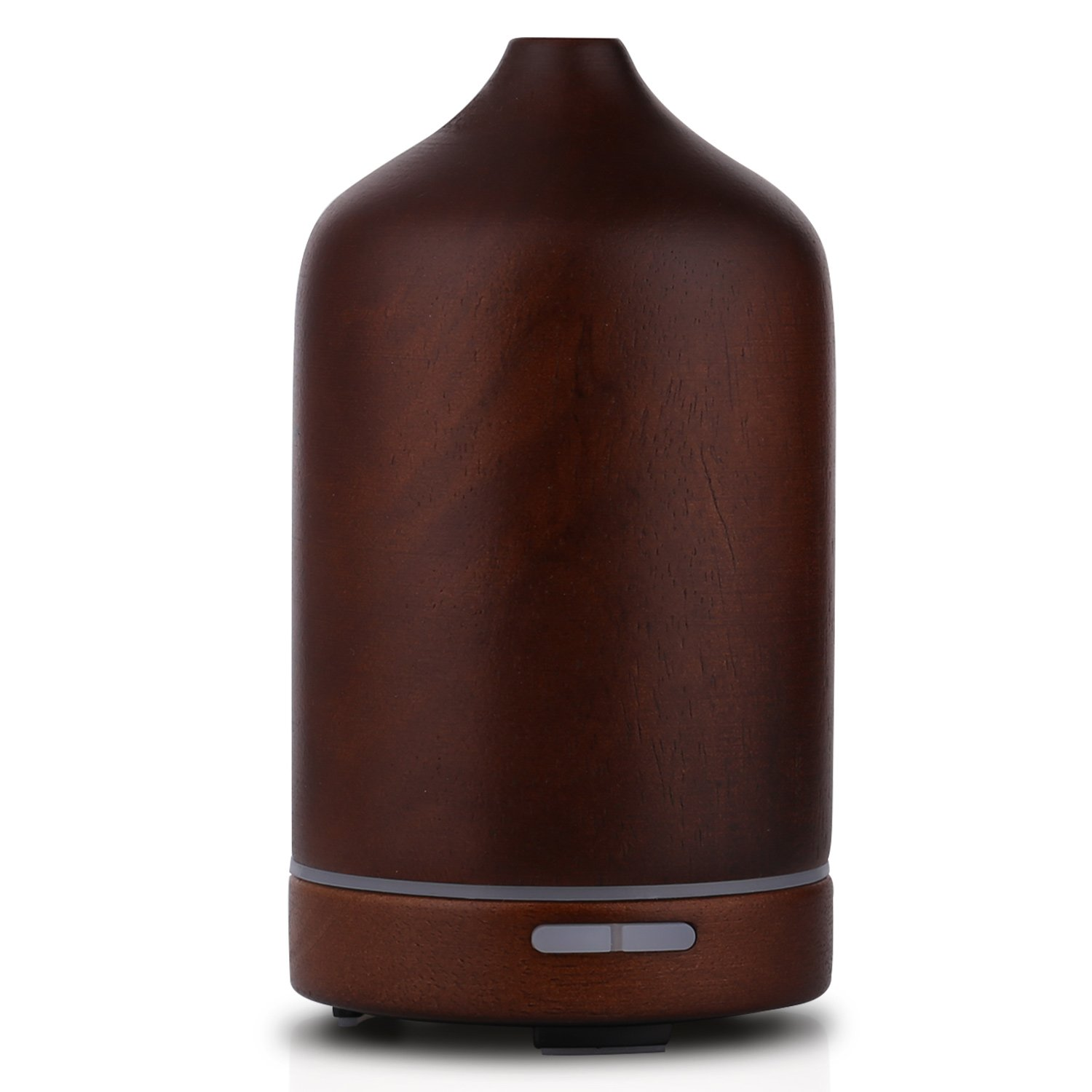 Wood Aromatherapy Essential Oil Diffuser BYMIE Whisper Quiet Cool Mist Humidifier Bedroom Young living (Brown Black) 1503