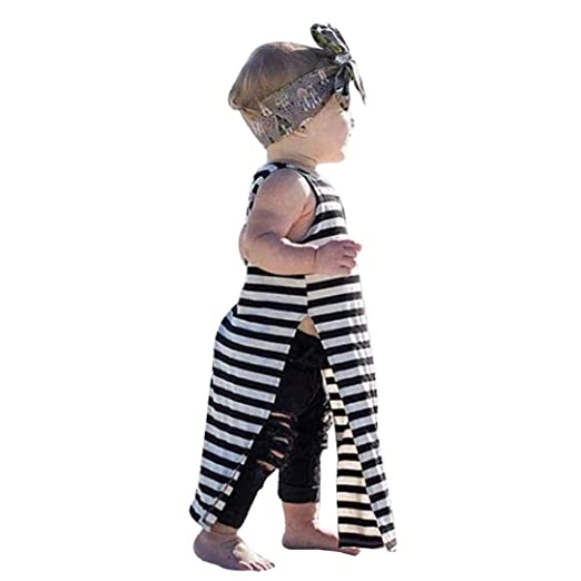 f32f4af6c018d Amazon.com: Fabal Toddler Baby Girls Clothes Dress Sundress Stripe ...