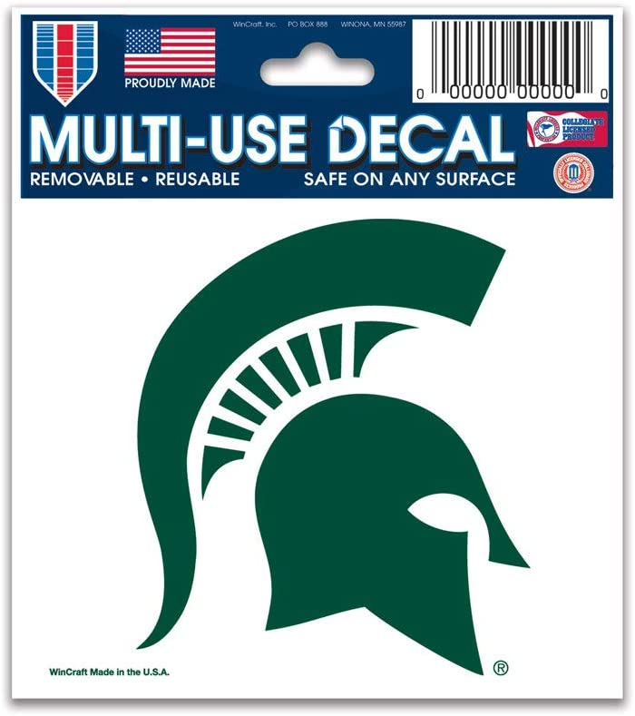 WinCraft NCAA Michigan State University 91290010 Multi-Use Decal 3 x 4