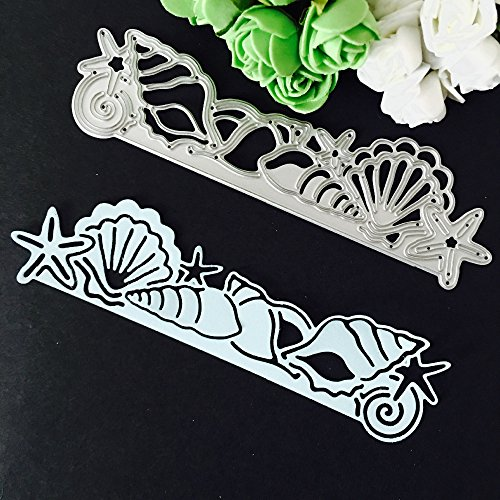 Cacys-Store - Fish Shell Borderline Cutting Dies Stencil For Photo Album Scrapbooking Decorative Metal Craft DIY