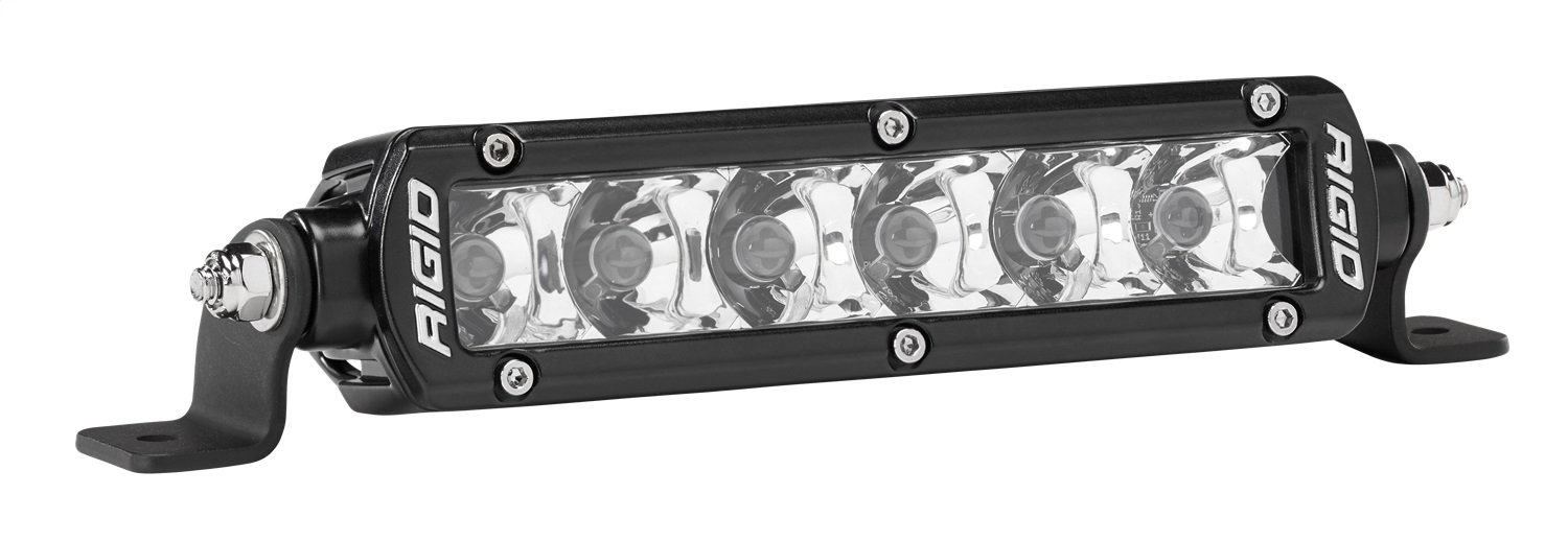 Rigid Industries 906213 SR-Series Pro Spot Light; Surface Mount; 6 in.; Single Row; 10 Degree; Hybrid; 6 White LEDs; 2 Piece; Rigid Lighting