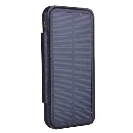 KANGLE Cargador Solar De Energía Móvil Back Clip De La ...