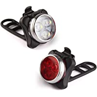 Bike Light LED Lamp Adjustable Bicycle Light USB Rechargeable Front Bike H W3U9