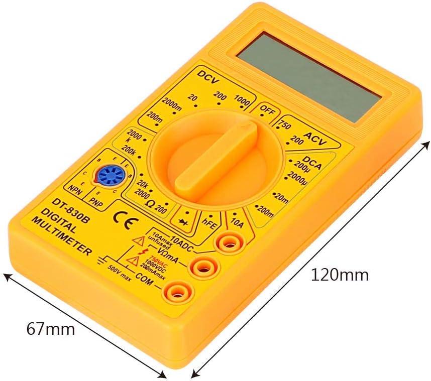 Cuiguoping Dt 830b Rechteck Lcd Digitalanzeige Multimeter Ohmmeter Volt Tester Analysegerät Schwarz Baumarkt