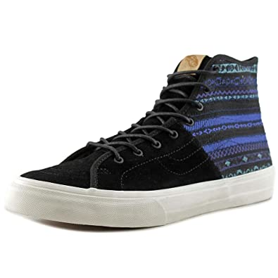 SK8-Hi Decon Men Round Toe Canvas Black Skate Shoe