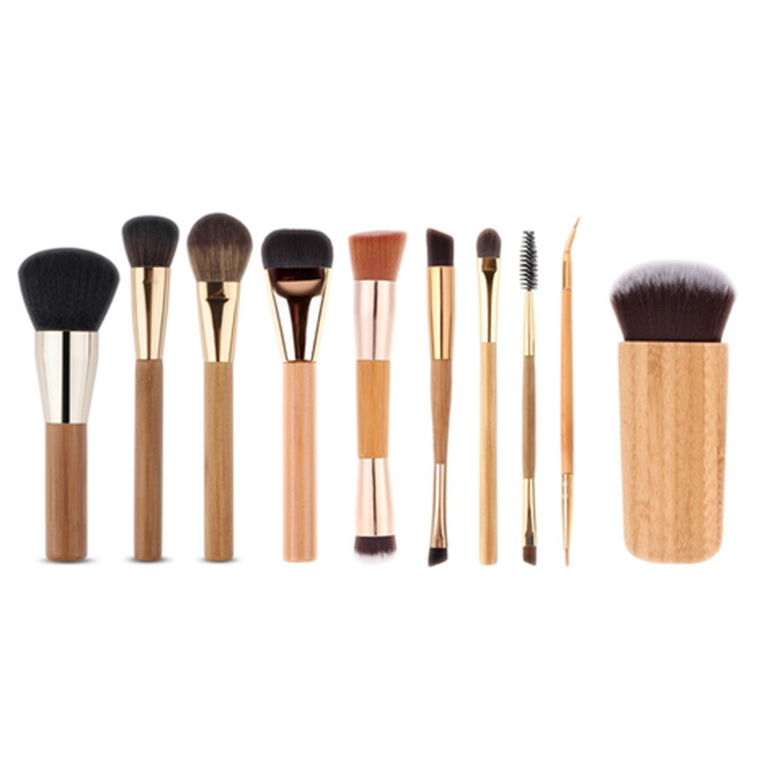 Amazon.com: Professional Makeup Brush Set | Wooden Handle Cosmetics Foundation | Best Makeup Brush Set Collection for Women & Girls: Beauty