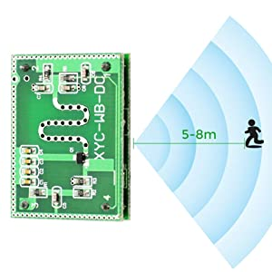 WHDTS 2.25GHz Microwave Radar Detector Module Detection Range 6-9M Smart Sensor Switch Home Control 3.3-20V DC for Arduino
