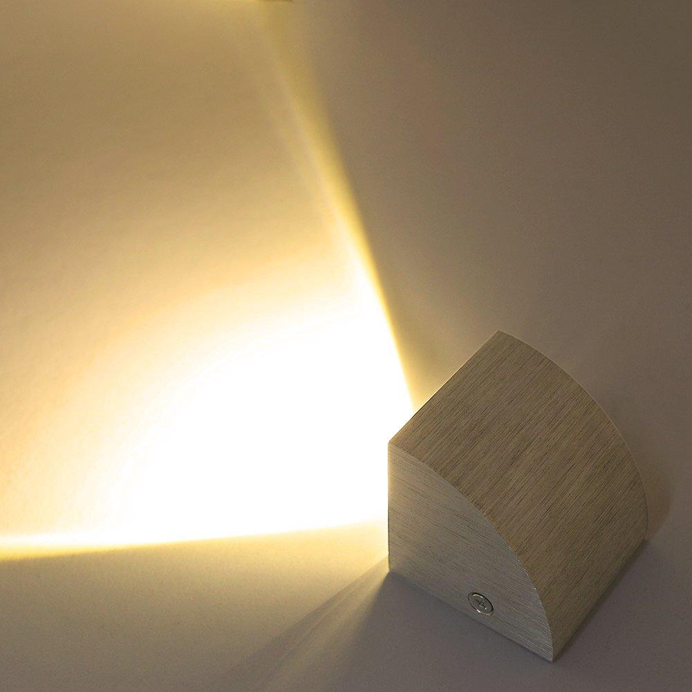 Deckey Lámpara de pared LED 3W Aplique Iluminación de pared Luz Blanco Cálido 3000K para Sala Dormitorio Casa bar: Amazon.es: Iluminación