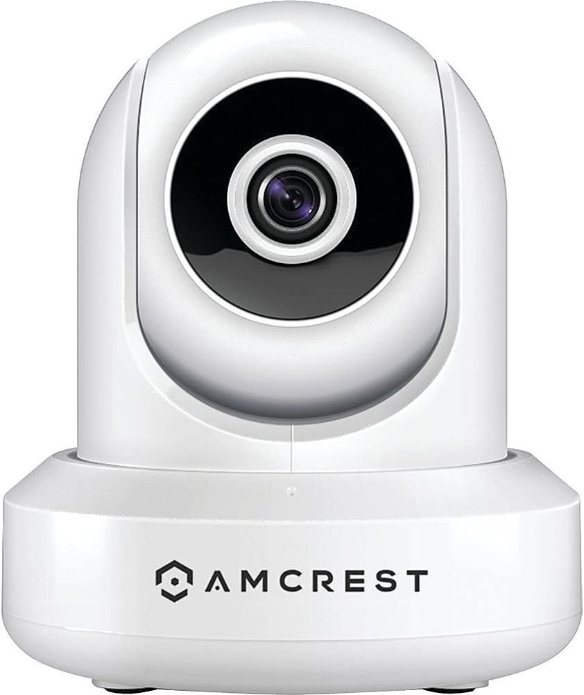 Amcrest WiFi Security Camera Indoor Pan/Tilt IP Camera Wireless, Home Surveillance System with IR Night Vision, Two-Way Talk for Pet, Nanny Cam, Video Baby Monitor IPM-721W (White)