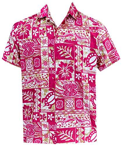 La Leela Likre Button Down Shirt Pink 323 4XL | Chest 64