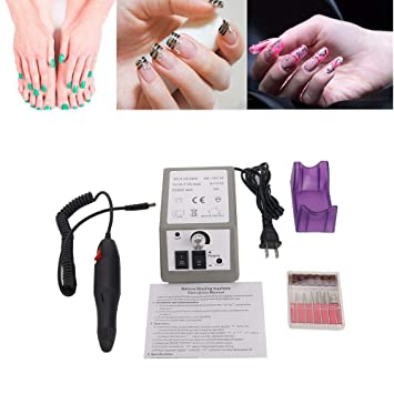 Amazon.com : HOBBYN Nail File, Electric Nail Drill Machine Nail Art ...