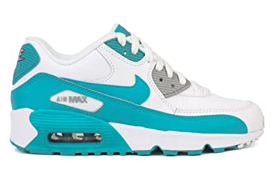 timeless design d6c2f 8c7b3 Nike Air Max 90 LTR Big Kid s Shoes White Chlorine Blue Wolf Grey 833376