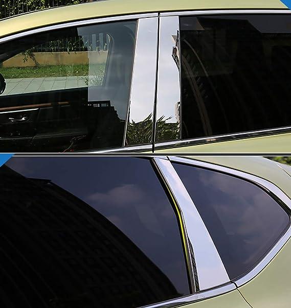 Fits Cadillac DTS 06-11 Carbon Fiber B-Pillar Window Trim Covers Post Parts