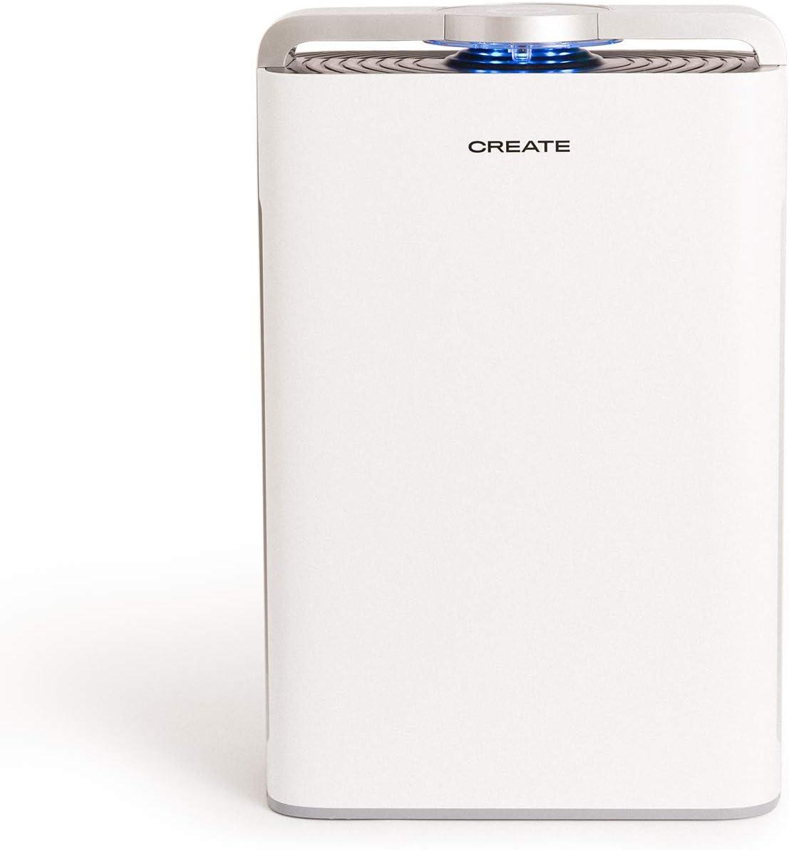CREATE IKOHS Air Pure Advance - Purificador de Aire Portátil de 8 etapas, WiFi, Filtrado Múltiple, Filtro HEPA H13 y Carbón Activo, Luz Ultravioleta UV y Humidificación, hasta 60m²,cadr de 480m³/h
