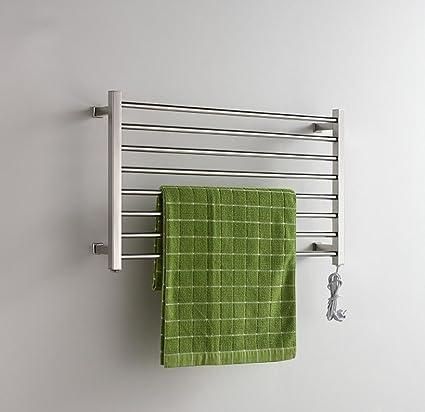 FANGYAO Pared de acero inoxidable calentador eléctrico de toallas de riel / radiador de baño /