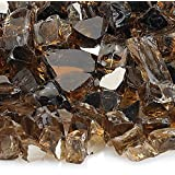 American Fireglass 10-Pound Reflective Fire Glass with Fireplace Glass and Fire Pit Glass, 1/2-Inch, Copper
