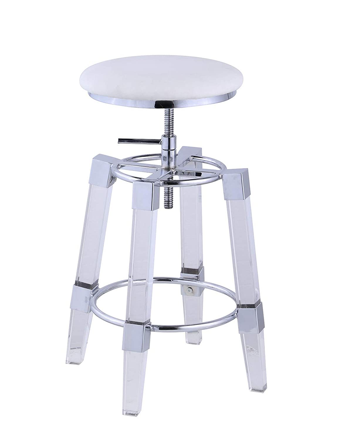 Milan 8304 Bar Stool, White
