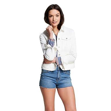 Universal Thread Women s Denim Jacket White (Meduim) at Amazon ... 5b6ce55676