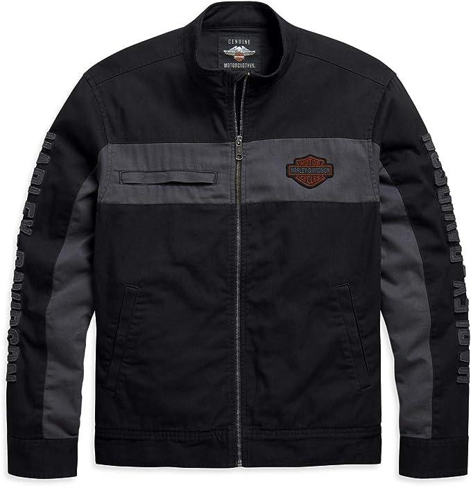 Harley Davidson Copperblock Canvas Jacke 98406 20vm Bekleidung