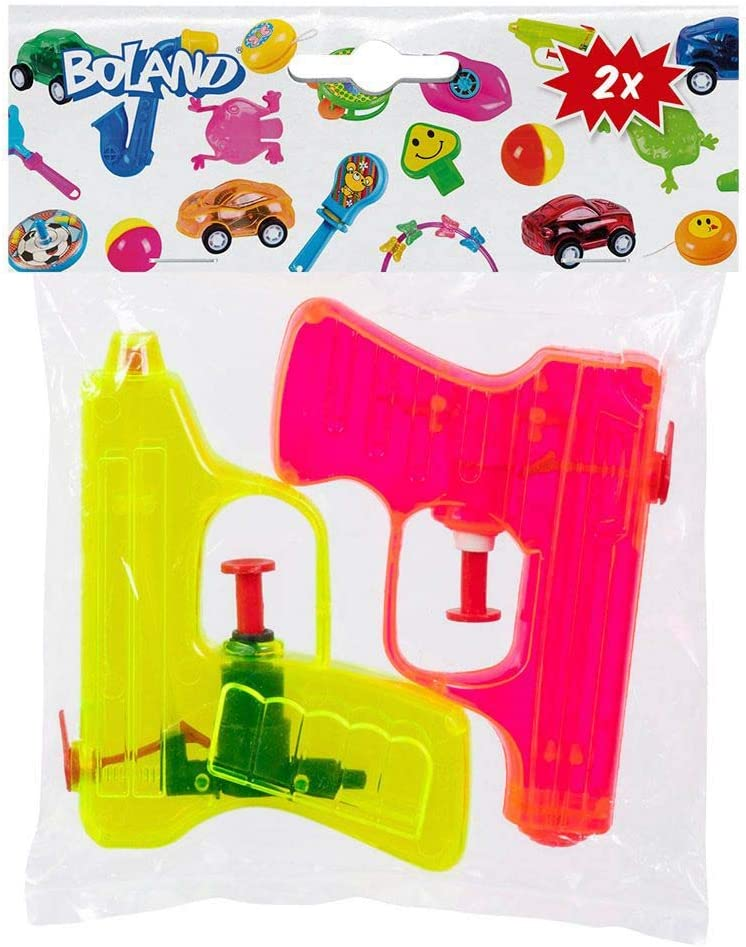 Mitgebsel Boland 30774 Wasserpistolen Wasserkanonen Sommer Kindergeburtstag Wasserspritzpistolen Gr/ö/ße 7,5 x 10 cm Wasserspiele Plastik 2 St/ück