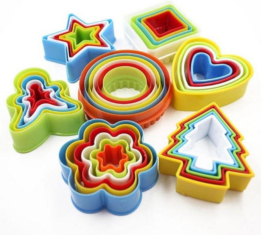 LafyHo Colorido Multi-Forma del Molde plástico de la Galleta Cortador de la Galleta del Molde de pastelería Herramientas Maker envió aleatoriamente