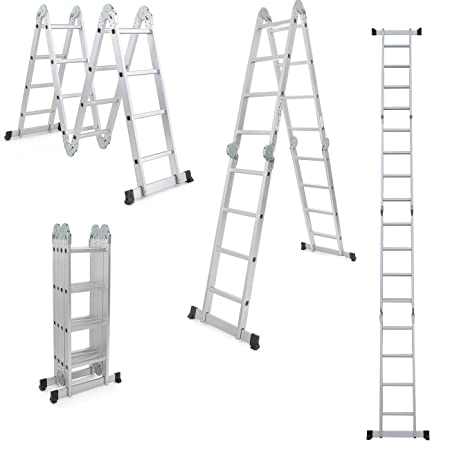 Professional 4X4 Step Ladder Aluminium Ladder Multi Purpose Ladder ...
