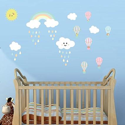Home & Garden Wall Décor Sunny Wall Stickers Custom Name Aircrafts Cloud Kids Baby Vinyl Decal Decor Nursery