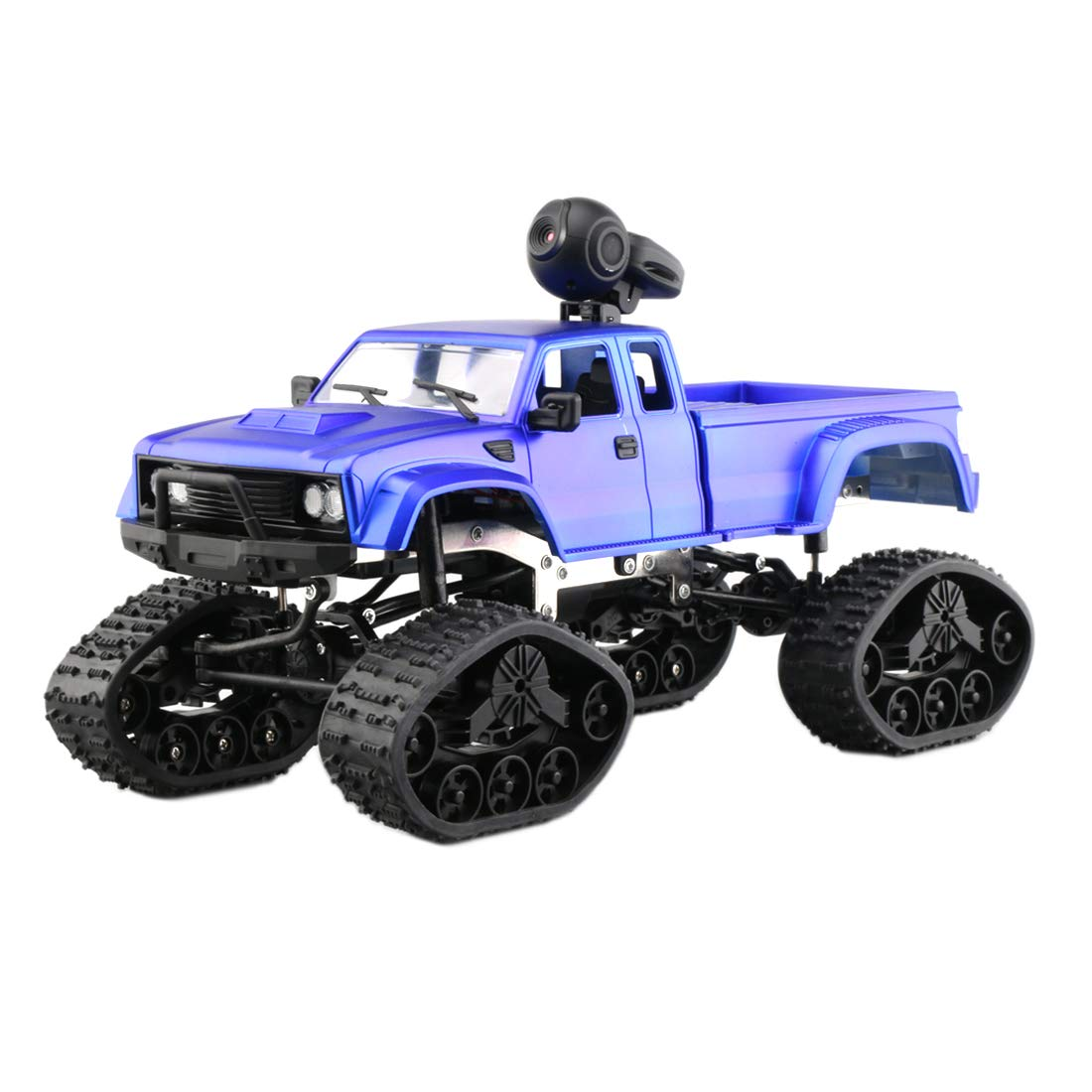 MAJOZ Kamera RC Autos Elektrisches Ferngesteuertes Spielzeugs, Remote Control Autos mit Live Übertragung 4WD 2.4G WiFi(App) Kamera, RC Auto für Kinder Erwachsener (Blau)