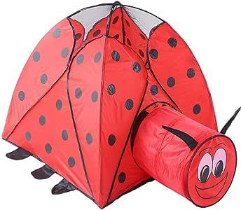 Tienda de juegos para niños Tienda de campaña para niños Casa Interior Plegable Al Aire Libre Bebé Túnel Escarabajo Juego de Dibujos Animados Juguete Bola Piscina Mosquito Net Tienda infantil plegable: Amazon.es: