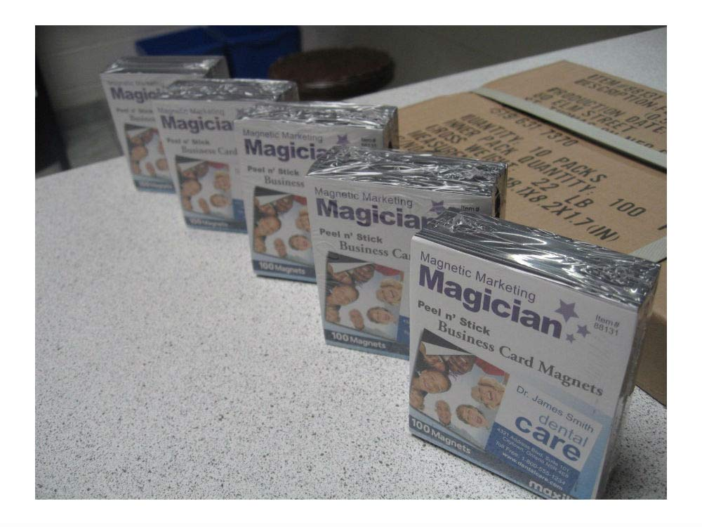 2,000 Self Adhesive Peel and Stick Business Card Promotional Magnets