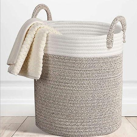 Mackur - Cesta de almacenaje (Cuerda de algodón, Cesta para la ...