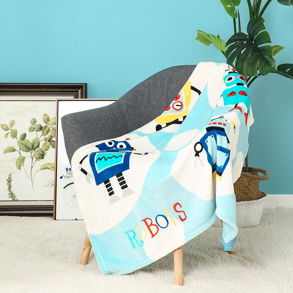 Sue/ño Azul, 70x120cm i-baby Manta Beb/é Mantas Infantiles Para Cuna Cama Infantil Ni/ñas Manta Swaddle Reci/én Nacidos 4 Estaciones