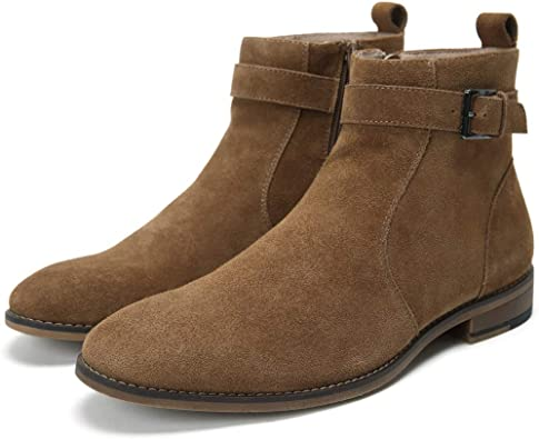 Cestfini Buckle Suede Chelsea Boots for